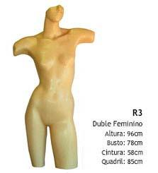 Manequim busto feminino R3