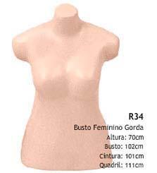 Manequim busto feminino R34