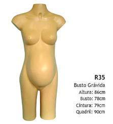 Manequim busto feminino R35