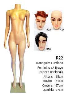 Manequim feminino corpo inteiro R22