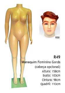 Manequim feminino corpo inteiro R49