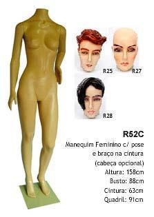 Manequim feminino corpo inteiro R52C