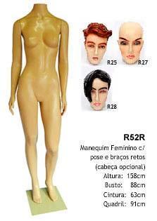 Manequim feminino corpo inteiro R52R
