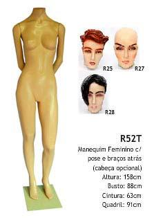 Manequim feminino corpo inteiro R52T