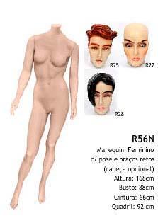 Manequim feminino corpo inteiro R56N