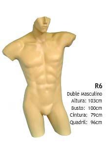 Manequim masculino busto R6