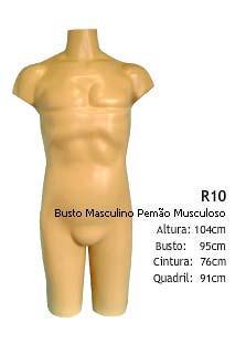 Manequim masculino busto R10