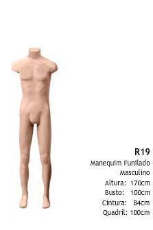Manequim masculino corpo inteiro R19