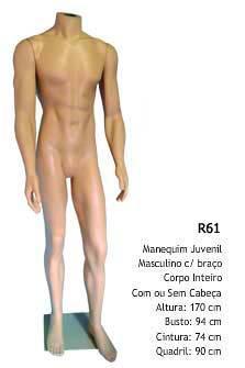 Manequim Masculino corpo inteiro R61
