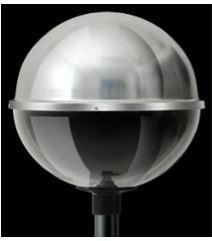 Globo 1/2 Esfera Acrílico Alumínio