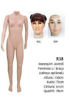 Manequim feminino corpo inteiro R4157