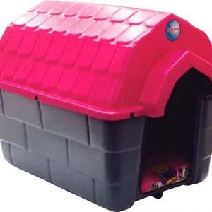 Casa plástica para cachorro