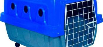 Caixa para transporte de cães